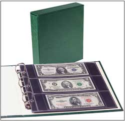 Small-size US and World Bank Note album w/slipcase LCA 63
