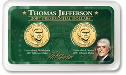 Thomas Jefferson Presidential Dollar Set